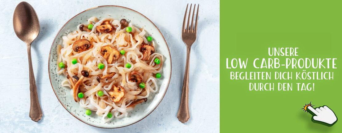 Unsere Low Carb-Produkte begleiten dich köstlich durch den Tag! ecoget.de
