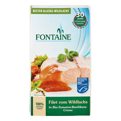 Fontaine - Wildlachs-Filet in Bio-Tomaten-Basilikum-Creme...