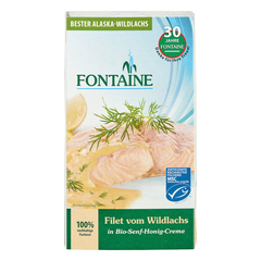Fontaine - Wildlachs-Filet in Bio-Senf-Honig-Creme - 200 g