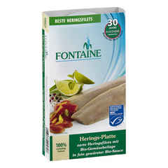 Fontaine - Herings-Platte in Bio-Creme mit...
