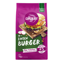 Davert - Linsen-Curry Burger - 160 g