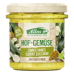 Allos - Hof-Gemüse Claudias Curry Zucchini - 135 g