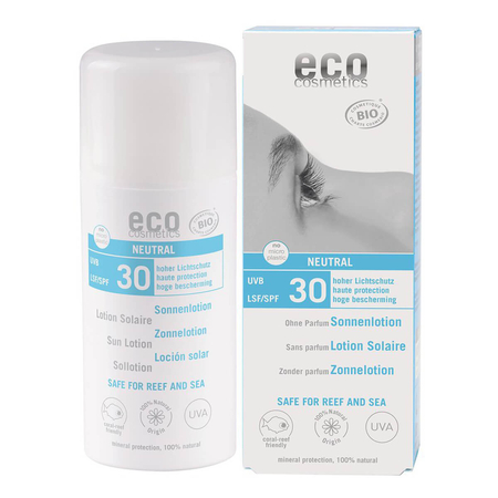 eco cosmetics - Sonnenlotion LSF 30 neutral ohne Parfum - 100 ml