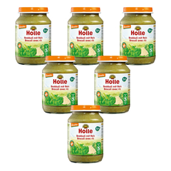 Holle - Brokkoli mit Reis - 190 g - 6er Pack