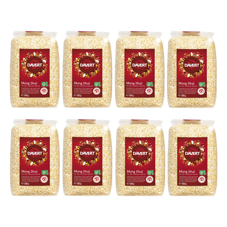 Davert - Mung Dhal Fair Trade IBD - 500 g - 8er Pack