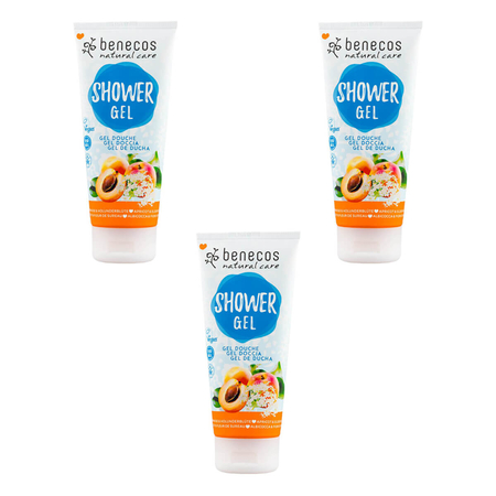benecos - Natural Shower Gel Aprikose und Holunderblüte - 200 ml - 3er Pack