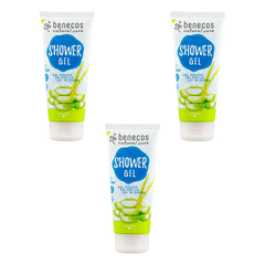 benecos - Natural Shower Gel Aloe Vera - 200 ml - 3er Pack