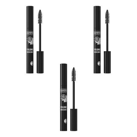 lavera - Volume Mascara - brown  - 9 ml - 3er Pack