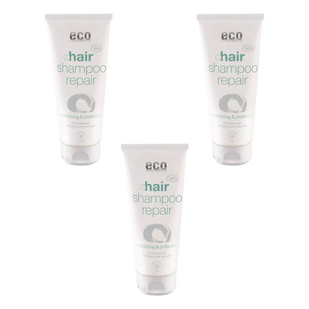 eco cosmetics - Repair-Shampoo mit Myrte Gingko und Jojoba - 200 ml - 3er Pack