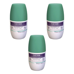 Cattier - Deodorant 24h Roll-on - 50 ml - 3er Pack